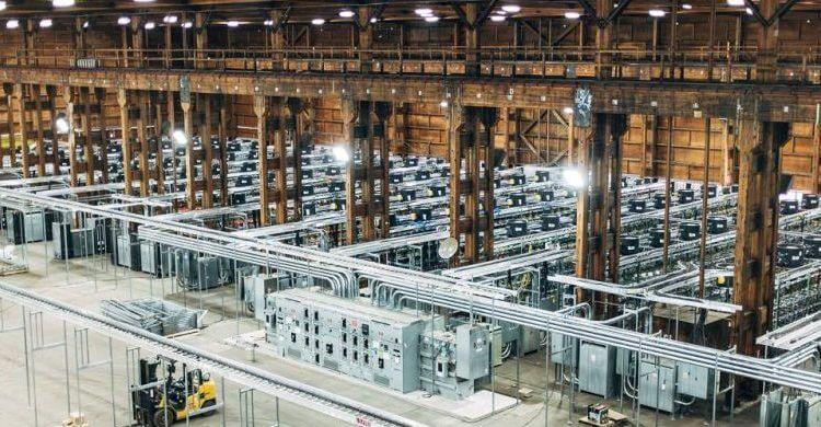 bitcoin mining warehouse
