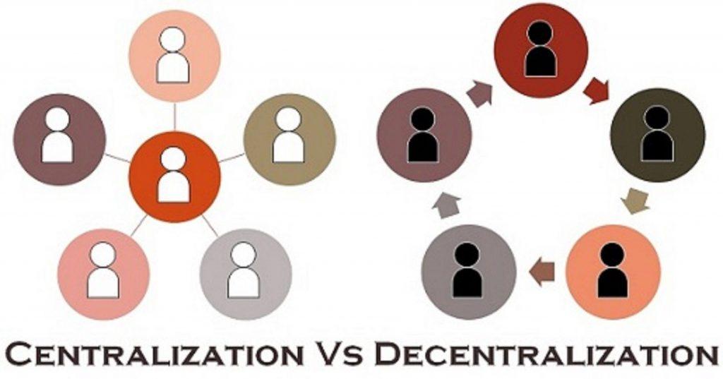 centralisatie versus decentralisatie