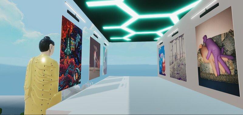 NFT kunstgalerij in Decentraland Metaverse